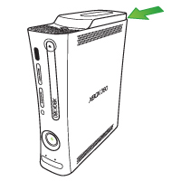 An arrow points to the hard drive on an original Xbox 360 console.