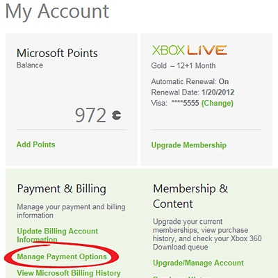 credit card verification xbox live