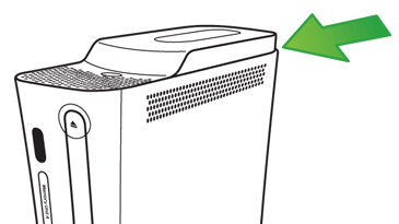 An illustration shows the location of the hard drive on the Original Xbox 360 console.
