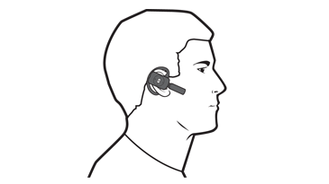 A drawing of a man using an Xbox 360 Wireless Headset