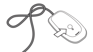 An illustration showing an Xbox 360 Wireless Gaming Receiver with an arrow pointing to the connect button.