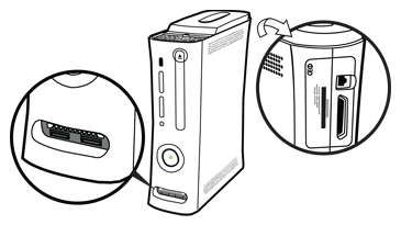 Serial number location, original Xbox 360 console