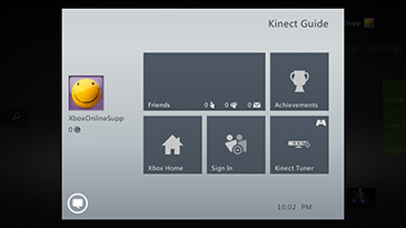 A screen shows the Kinect Guide.