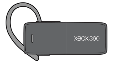 Drawing of the Xbox 360 Wireless Bluetooth Headset