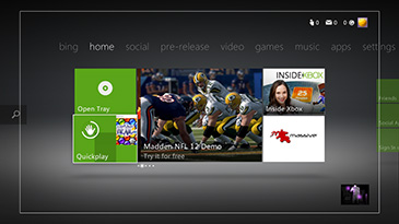 Kinect Xbox Dashboard   Kinect Voice and Gestures   Kinect