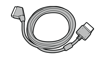 Illustration of a SCART adapter