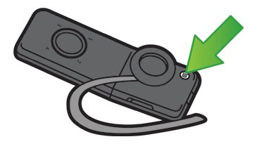 Drawing of the Xbox 360 Wireless Bluetooth Headset with the Connect button emphasised