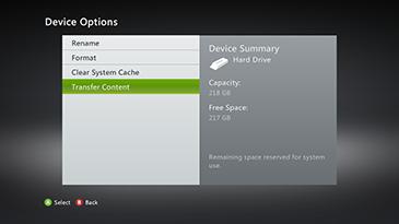 Move Xbox Content | Copy or Move Xbox Content | Xbox 360 Storage